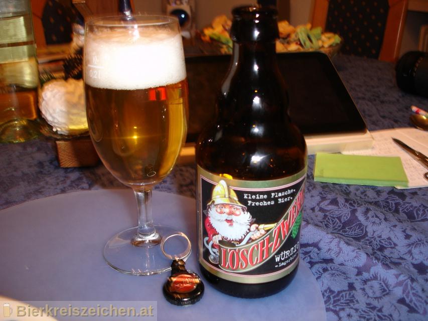 Foto eines Bieres der Marke Lösch-Zwerg Würzig aus der Brauerei Brauerei Schimpfle GmbH & Co KG