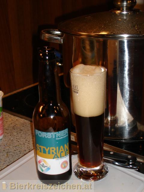Foto eines Bieres der Marke Styrian Ale aus der Brauerei Handbrauerei Gerhard Forstner