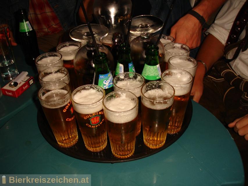 Foto eines Bieres der Marke Golding Campina Pilsener aus der Brauerei N.V. Brouwerijen Alken Maes Brasseries S.A.