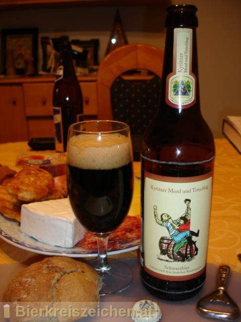 Foto eines Bieres der Marke Kyritzer Mord und Totschlag aus der Brauerei Klosterbrauerei Neuzelle GmbH