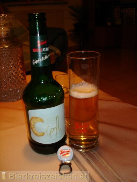 Foto eines Bieres der Marke Stiegl Braukunst aus der Brauerei Stieglbrauerei