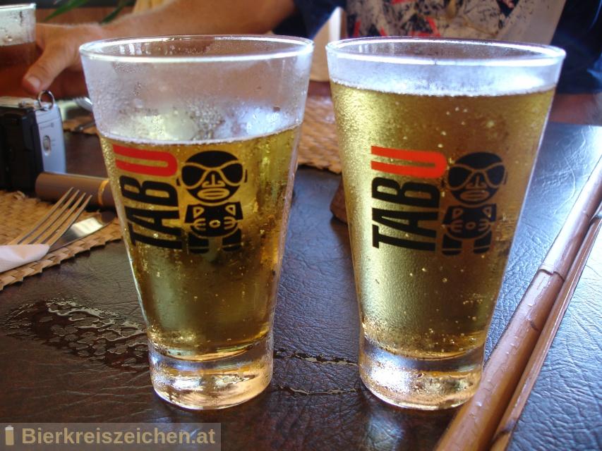 Foto eines Bieres der Marke Tabu Lemon aus der Brauerei La Brasserie de Tahiti