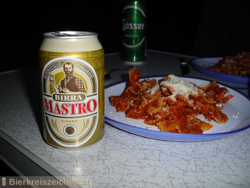 Foto eines Bieres der Marke Birra Mastro Chiara aus der Brauerei Birra Peroni S.p.A.
