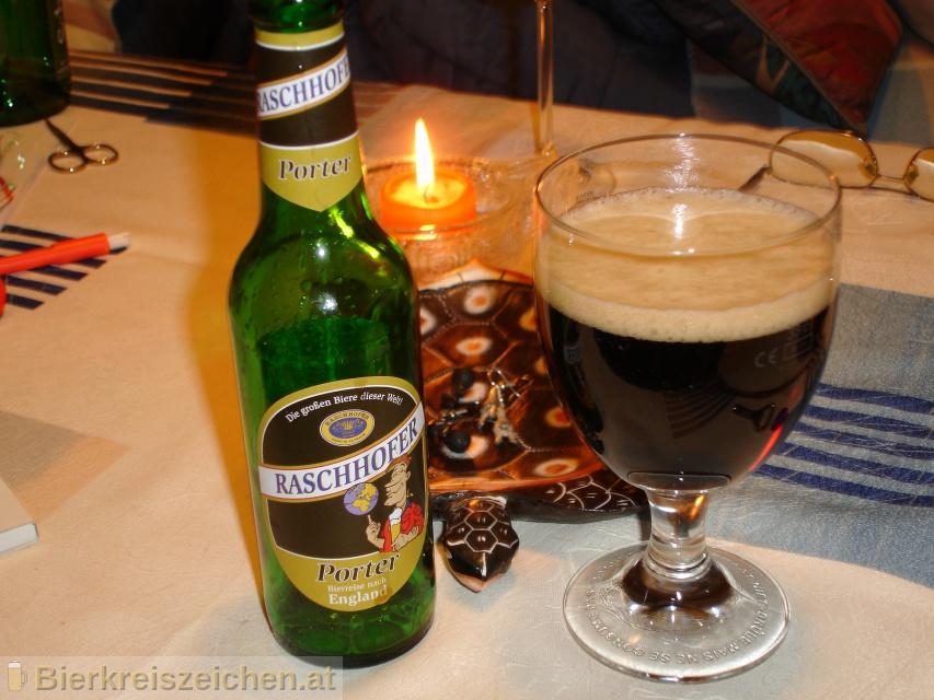 Foto eines Bieres der Marke Raschhofer Porter - Bierreise England aus der Brauerei Brauerei Raschhofer