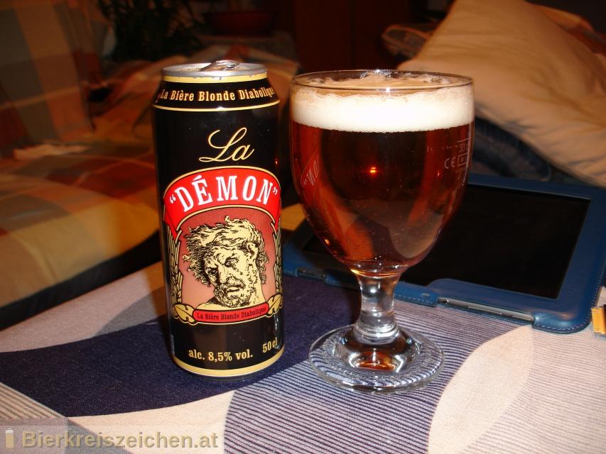 Foto eines Bieres der Marke Démon 12° aus der Brauerei Brasserie Goudale