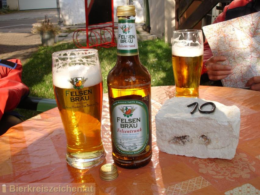 Foto eines Bieres der Marke Felsentrunk aus der Brauerei Felsenbräu - Privat-Brauerei Familie Gloßner