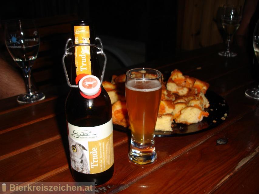 Foto eines Bieres der Marke Trude aus der Brauerei Brauerei Gratzer