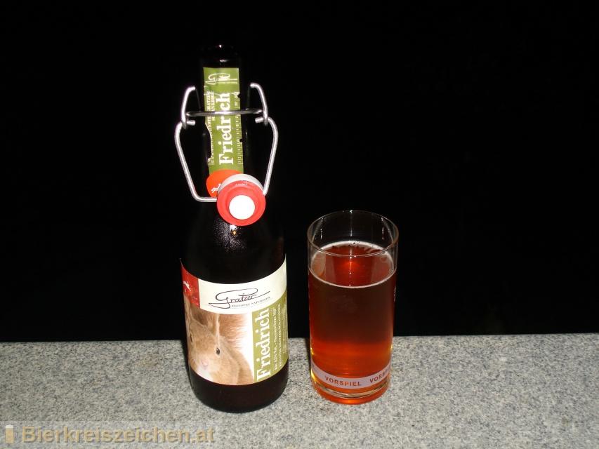 Foto eines Bieres der Marke Friedrich aus der Brauerei Brauerei Gratzer