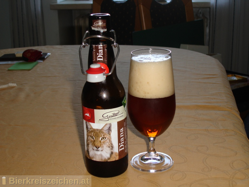 Foto eines Bieres der Marke Diana aus der Brauerei Brauerei Gratzer