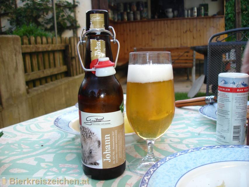 Foto eines Bieres der Marke Johann aus der Brauerei Brauerei Gratzer