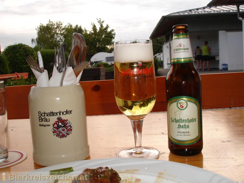 Foto eines Bieres der Marke Schattenhofer Hahn aus der Brauerei Franz Schattenhofer GmbH & Co. KG