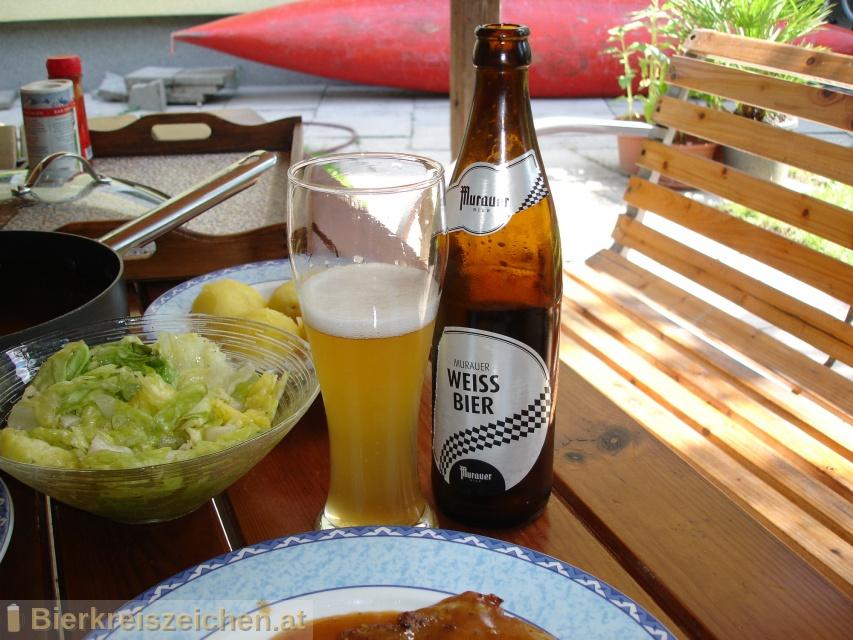 Foto eines Bieres der Marke Murauer Weissbier aus der Brauerei Brauerei Murau