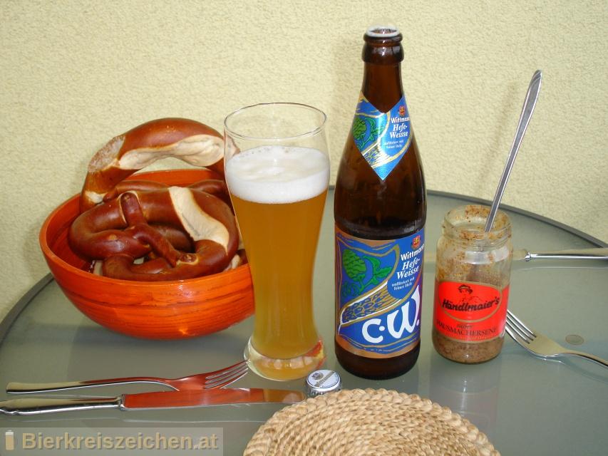 Foto eines Bieres der Marke Wittmann Hefe-Weisse aus der Brauerei Brauerei Wittmann