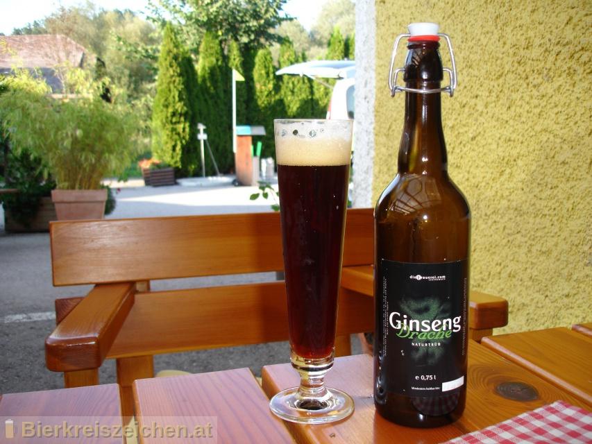 Foto eines Bieres der Marke Ginsengdrache aus der Brauerei diebrauerei Leutschach GmbH