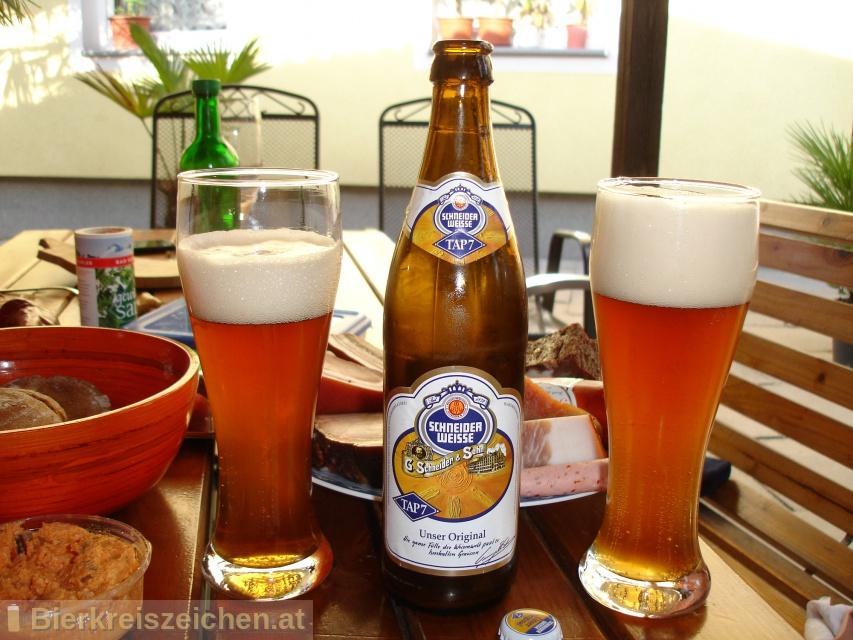 Foto eines Bieres der Marke TAP7 - Unser Original (Schneider Weisse Original) aus der Brauerei Schneider Weisse