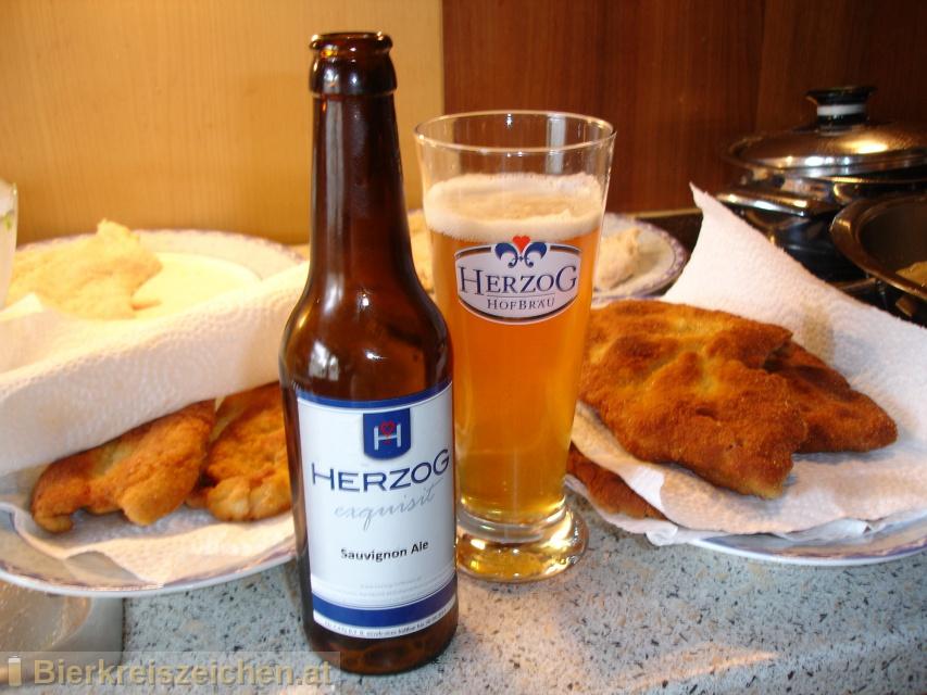 Foto eines Bieres der Marke Herzog Sauvignon Ale aus der Brauerei Herzog Hofbräu