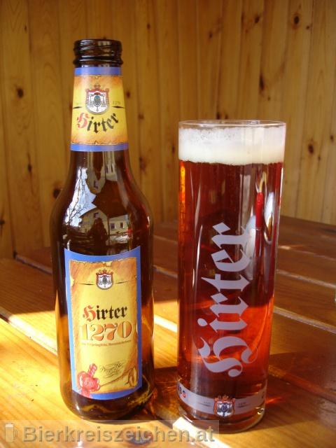 Foto eines Bieres der Marke Hirter 1270 aus der Brauerei Brauerei Hirt