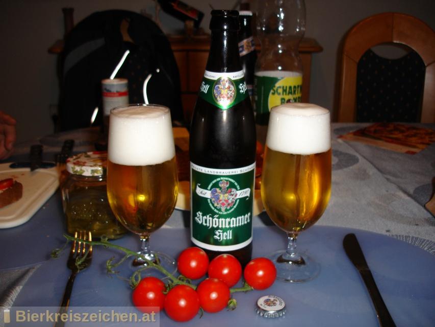Foto eines Bieres der Marke Schönramer Hell aus der Brauerei Privaten Landbrauerei Schönram