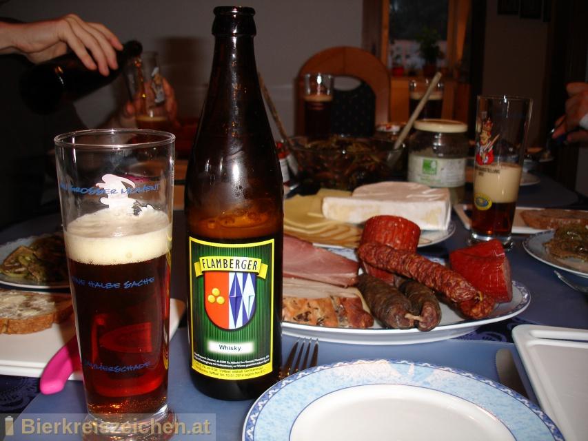 Foto eines Bieres der Marke Flamberger Whisky aus der Brauerei Brauerei Flamberger