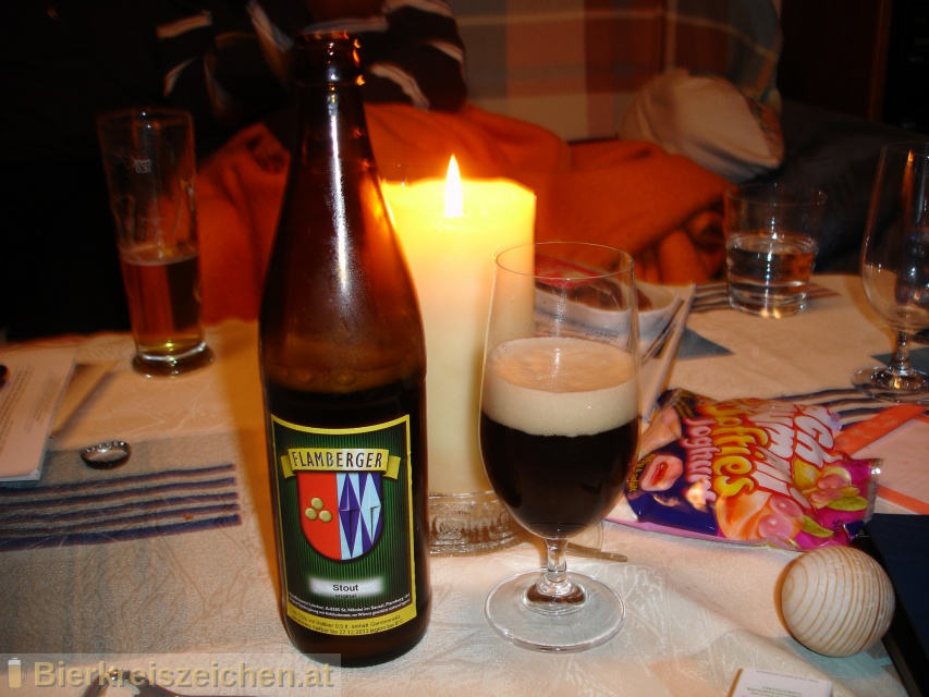Foto eines Bieres der Marke Flamberger Stout aus der Brauerei Brauerei Flamberger