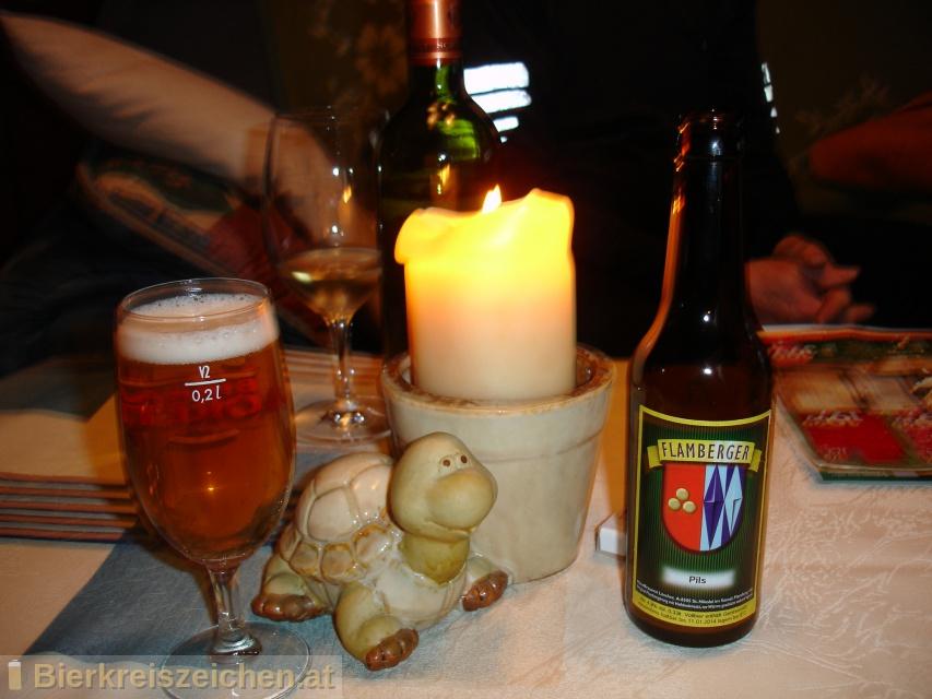 Foto eines Bieres der Marke Flamberger Pils aus der Brauerei Brauerei Flamberger