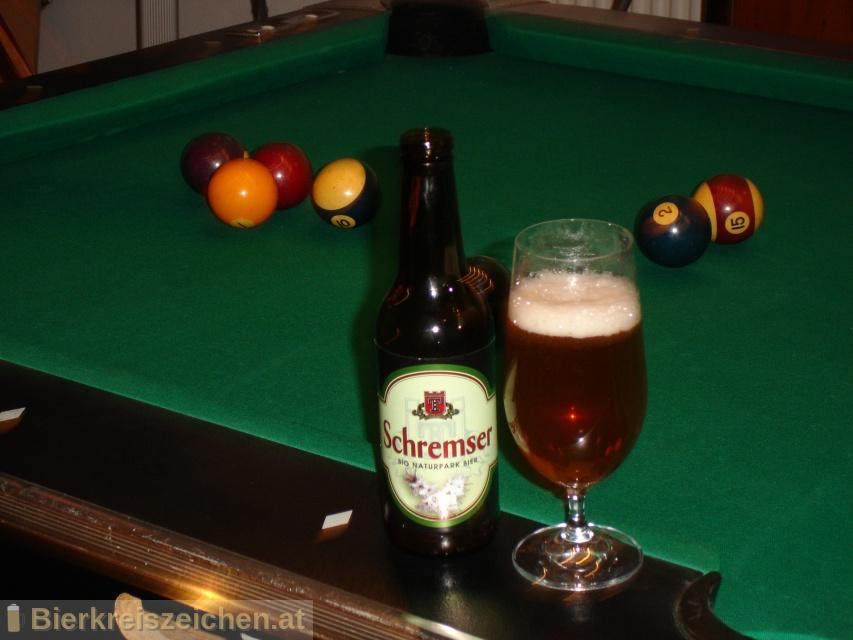 Foto eines Bieres der Marke Schremser Bio Naturparkbier aus der Brauerei Brauerei Schrems