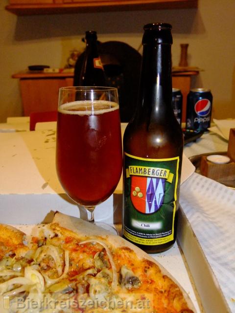 Foto eines Bieres der Marke Flamberger Chili aus der Brauerei Brauerei Flamberger