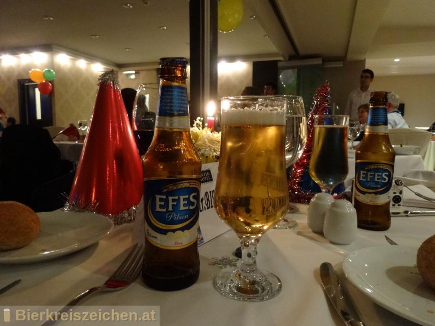 Foto eines Bieres der Marke Efes Pilsner aus der Brauerei Anadolu Efes