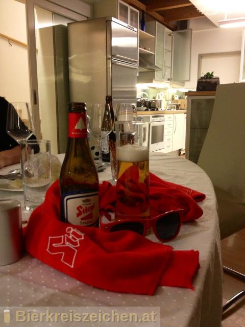 Foto eines Bieres der Marke Stiegl Spezial aus der Brauerei Stieglbrauerei