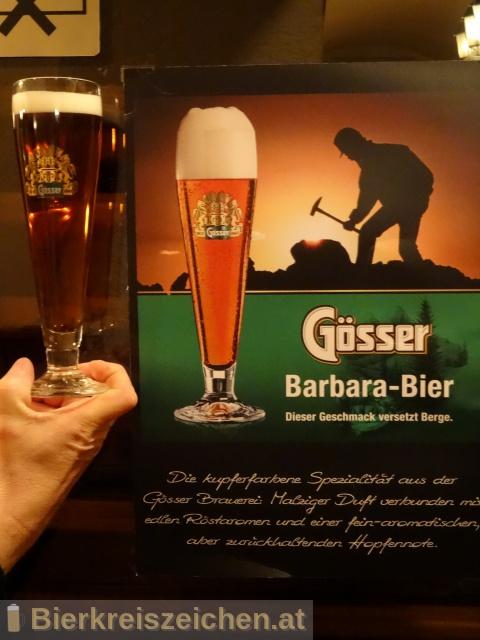 Foto eines Bieres der Marke Gösser Barbarabier aus der Brauerei Brauerei Göss