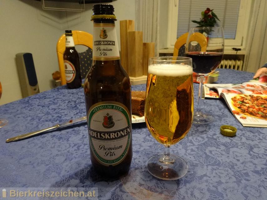 Foto eines Bieres der Marke Adelskronen Premium Pils aus der Brauerei Brauerei Braunschweig