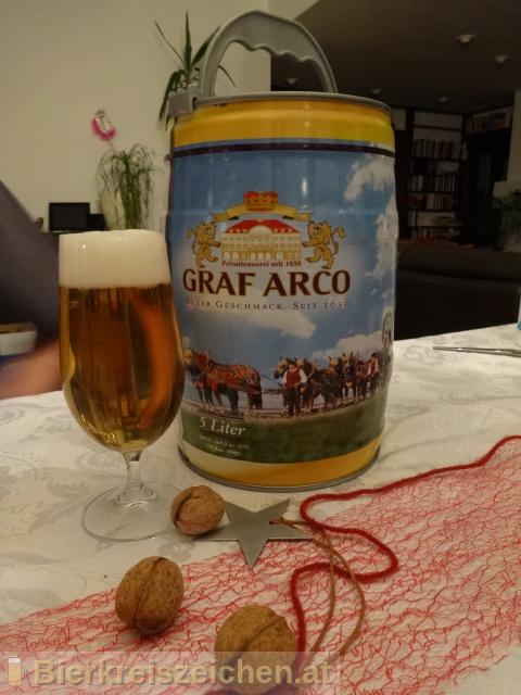 Foto eines Bieres der Marke Grafen Hell aus der Brauerei Graf Arco
