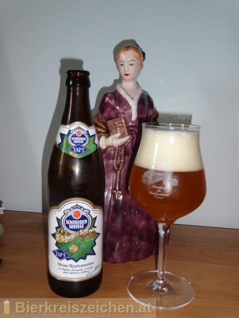 Foto eines Bieres der Marke TAP5 - Meine Hopfenweisse aus der Brauerei Schneider Weisse