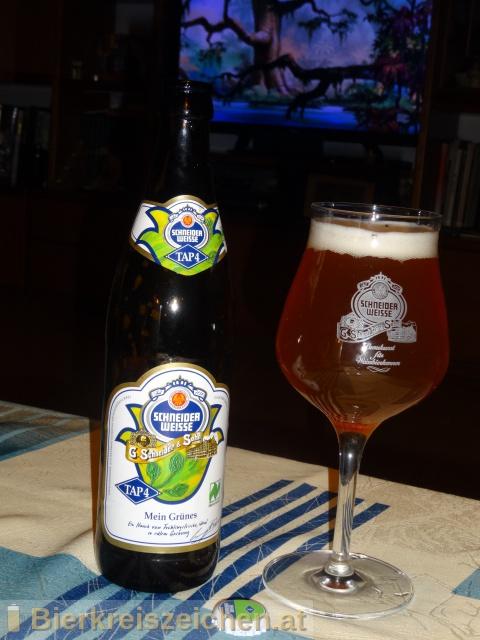 Foto eines Bieres der Marke TAP4 - Mein Grünes aus der Brauerei Schneider Weisse