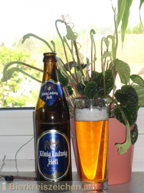 Foto eines Bieres der Marke König Ludwig Hell aus der Brauerei König Ludwig Schlossbrauerei Kaltenberg