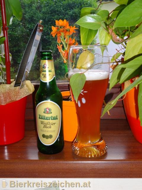 Foto eines Bieres der Marke Zillertal Weißbierbock aus der Brauerei Zillertal Bier