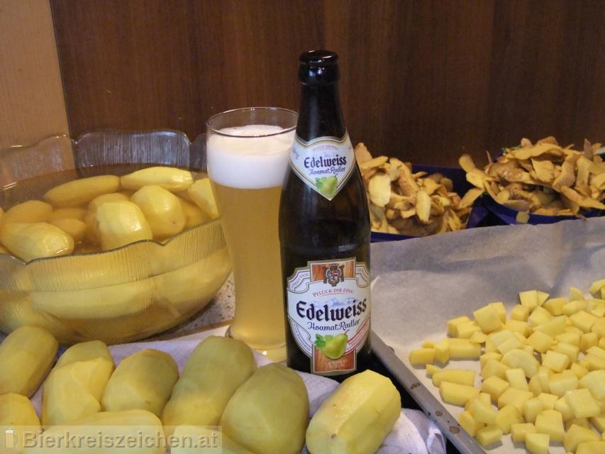 Foto eines Bieres der Marke Edelweiss Hoamat Radler aus der Brauerei Brau Union