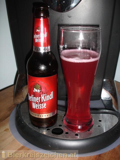 Foto eines Bieres der Marke Berliner Kindl Weisse - Himbeer aus der Brauerei Berliner-Kindl-Schultheiss-Brauerei