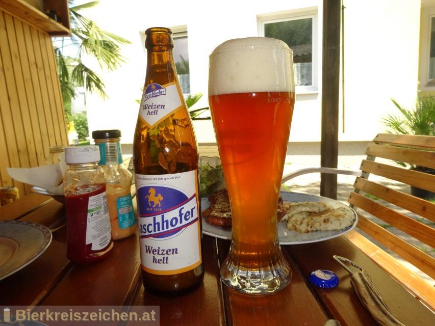 Foto eines Bieres der Marke Raschhofer Weizen Hell aus der Brauerei Brauerei Raschhofer