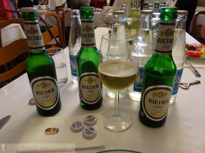 Foto eines Bieres der Marke Rieder Pils aus der Brauerei Brauerei Ried