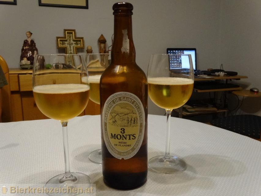 Foto eines Bieres der Marke 3 Monts aus der Brauerei Brasserie de Saint-Sylvestre