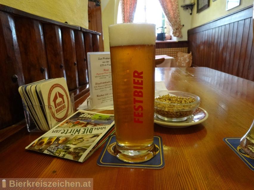 Foto eines Bieres der Marke Jubiläums-Festbier aus der Brauerei Girrer Bräu - Wirtshausbrauerei Mariazell