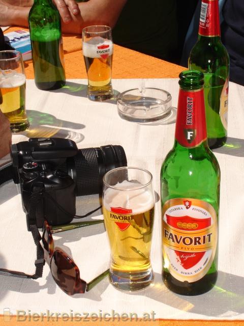 Foto eines Bieres der Marke Favorit Pivo aus der Brauerei Buzetska Pivovara