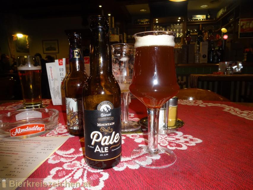 Foto eines Bieres der Marke Mountain Pale Ale aus der Brauerei Bierol
