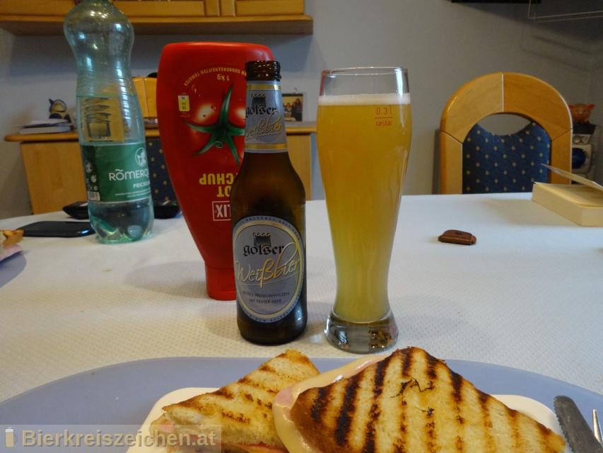 Foto eines Bieres der Marke Golser Hefeweissbier aus der Brauerei Pannonia Brauerei Gols
