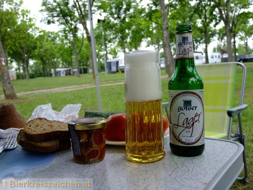 Foto eines Bieres der Marke Golser Lager aus der Brauerei Pannonia Brauerei Gols