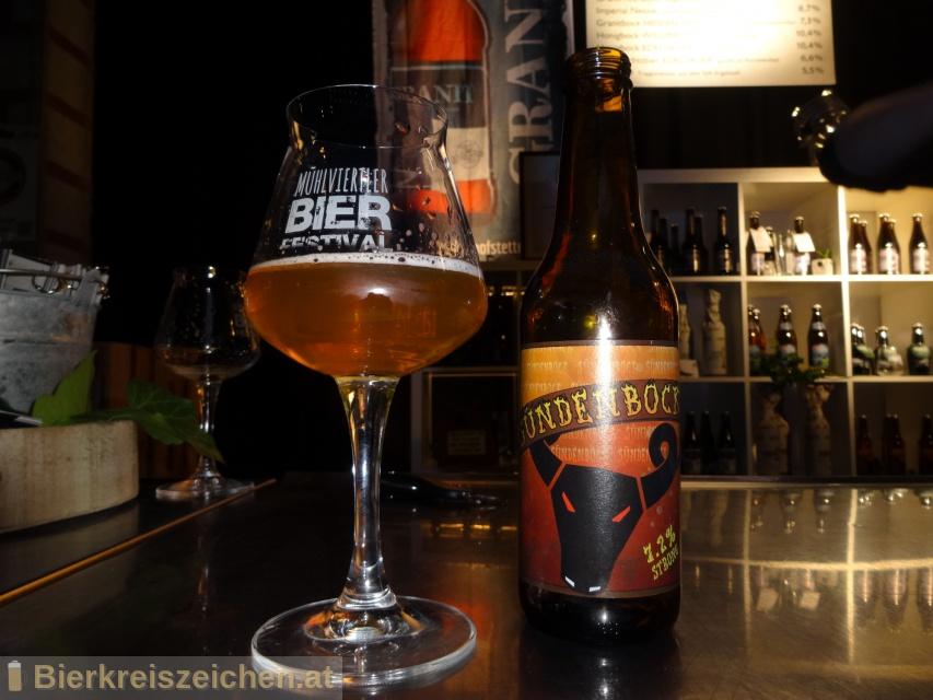 Foto eines Bieres der Marke Hofstettner Sündenbock aus der Brauerei Brauerei Hofstetten