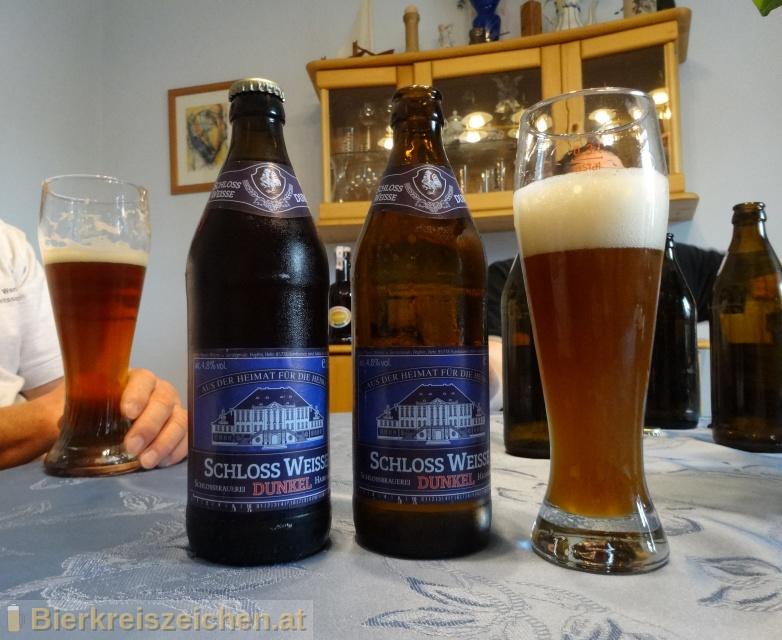 Foto eines Bieres der Marke Schloß-Weisse Dunkel aus der Brauerei Schloßbrauerei Haimhausen