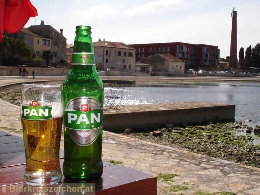 Foto eines Bieres der Marke Pan Lager  aus der Brauerei Carlsberg Croatia d.o.o.