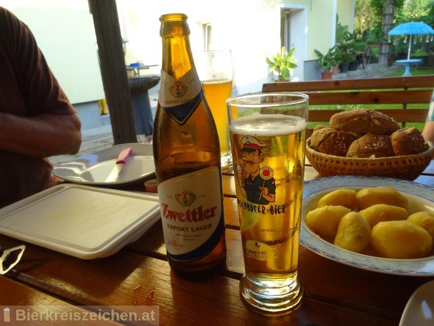 Foto eines Bieres der Marke Zwettler Export Lager aus der Brauerei Privatbrauerei Zwettl
